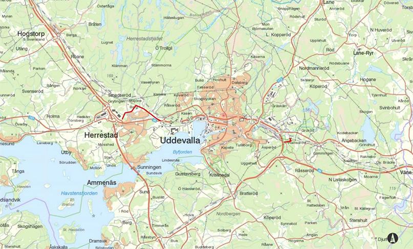 Uddevalla map